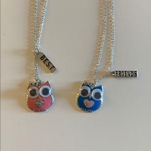 Other - Best Friend Owl Necklace Set